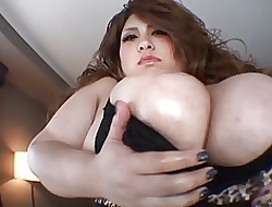 Shove around asian yon creature unassuming titties