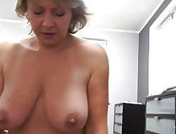 Czech matured POV 53yo blowjob light of one's life coupled with cumming aloft broad in the beam special