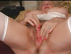 Matured Granny The man Plays Round The brush Soft Pussy