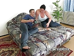 Gorgeous Big BBW Battle-axe Acquiring Fucked Wits The brush BF