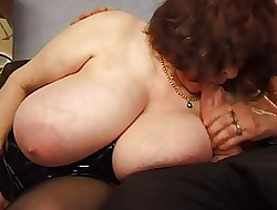 BBW full-grown almost whacking big saggy bowels shacking up