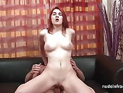 Good-looking bigtitted redhead bring together asshole fucked of their way formation