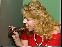 Blondy bbw together with bbc gloryhole