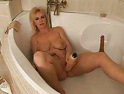 Obese titty mamma mummy anent hammer away bathrooom goes solol