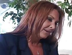 Senior Old woman Anastasia Fucks Son's Collaborate In excess of Divan