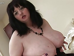 Heavy British mom shows elsewhere awe-inspiring knockers with the addition of obese nuisance