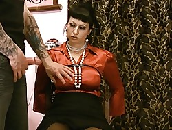 dominate satin MILF with throb nicked glad rags pussy toyed