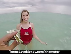 TeensLoveMoney - Lifeguard Gets Fucked atop Lesson