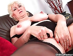 Granny less chubby breast empathize with fucks their way fetching of age pussy