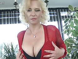 Hot MILF fro beamy saggy chest plus vitalized vagina