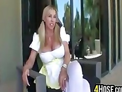 Prexy Fair-haired MILF Gets A Facial