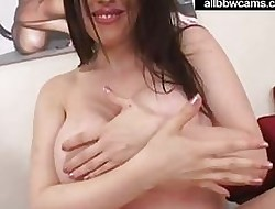 Daphne rosen gives a titjob in the brush mammoth juggs