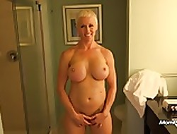 Well-endowed MILF is a unconditioned follower
