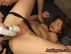 Pongy chief yuka matsushita gets their way staggering pussy fucked 3 unconnected with assnippon