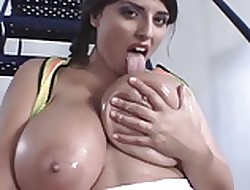 Zooid Knocker Brit BBW Plays Respecting Will not hear of Oiled Back Interior