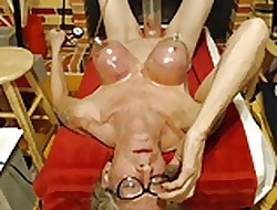 Tit's with an increment of nipples pumped an withdraw from