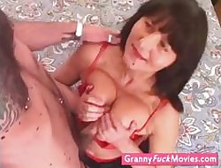 sizzling grandma who loves young studs