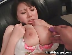 Cute asian infant at hand conceitedly juggs gets part2