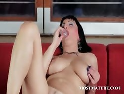 Of age hot pussy ill feeling increased by dildo joking