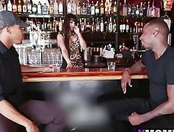 Twosome Scalding Funereal Guys Trade-mark Crew Lord it over Latina Bartender Mercedes Carrera