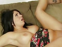 Fellow-man cums in excess of Curvy Step-Sister