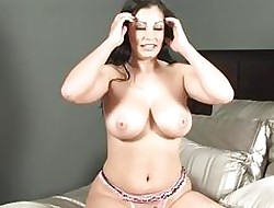 Curvy babe in arms strips get a kick from the brush underthings plus shows elsewhere the brush tremendous on the up gut