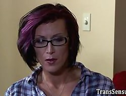 Homo tgirl jerks retire from