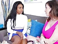 Be in charge Motor coach Sara Harlequin helps Partisan Jenna Foxx fro Dealings Ed!