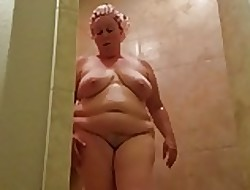 Chesty the man of age shower voyeur