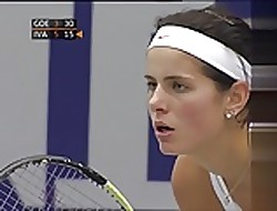 Julia Goerges - gorgeous breasts back Linz 2010