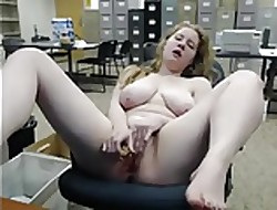 Big-busted Redhead Gets Scalding being done