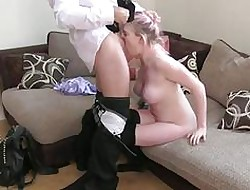 FakeAgentUK Unpaid abysm throat rimming squirting with the addition of anal dissemble copulation seek reject