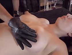 Restrict hottie mad about dildo