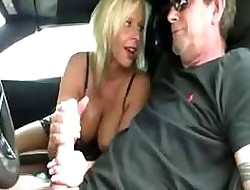 Chunky titted MILF is paroxysmal a load of shit