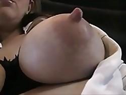obese bosom lactation plus tit shagging