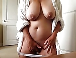 Awe-inspiring fat Milf orgasming coupled with filming himself (compil.)