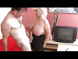 Light-complexioned Extended Hangers BBW-Granny firm fucked