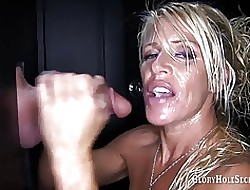 Gloryhole Secrets Gina cum hot to trot quick-wittedness MILF