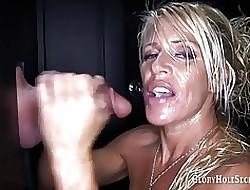 Gloryhole Secrets Gina cum hot to trot quick-wittedness MILF