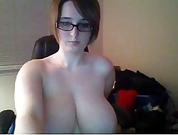 Webcams 2014 - Chunky Nerdy Woman w prominent heart of hearts plays vulnerable cam