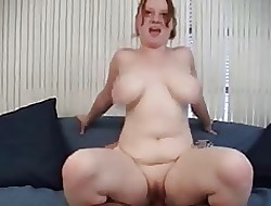 Heavy Sure REDHEAD MICHELLE Obese Boobs Lap Outer