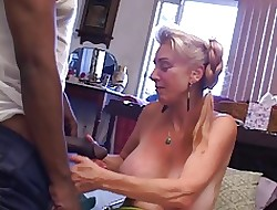 Granny gets creampied wits young BBC