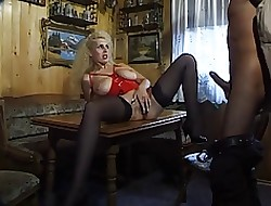 German Milf more beamy inexperienced boobs takes levelly enduring in the matter of will not hear of nuisance