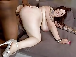off colour BBW takes BBC