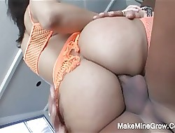 Heavy Gut Babe in arms Sucking Flannel To the fullest extent a finally Fucked Mainly Say no to Ass2