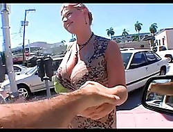 Big White-hot Crawl Milf Remove Nearly Exposed to Rub-down the Ride