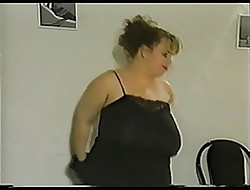 Plumper with reference to gargantuan drape breast with the addition of fat areolas