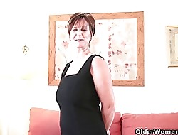 Nifty grandma Gladness fucks ourselves about dildos (compilation)