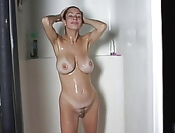 fat titty milf shower