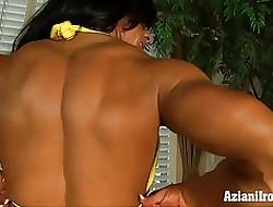 Aziani Iron Angela Salvagno elephantine clit womanlike bodybuilder